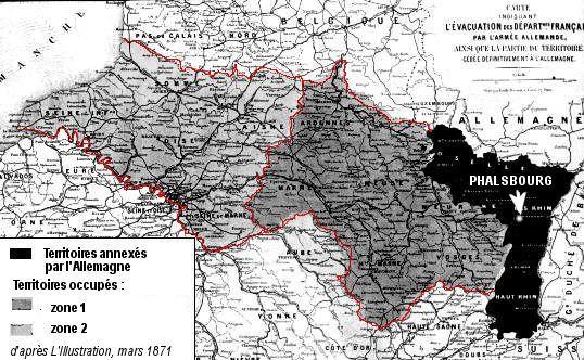 Carte Allemagne Apres Guerre.La Guerre De 1870 71 La Defaite Et Ses Consequences