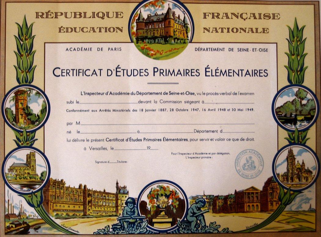 Le certificat d 39 etudes primaires - Attestation de porte fort a imprimer ...